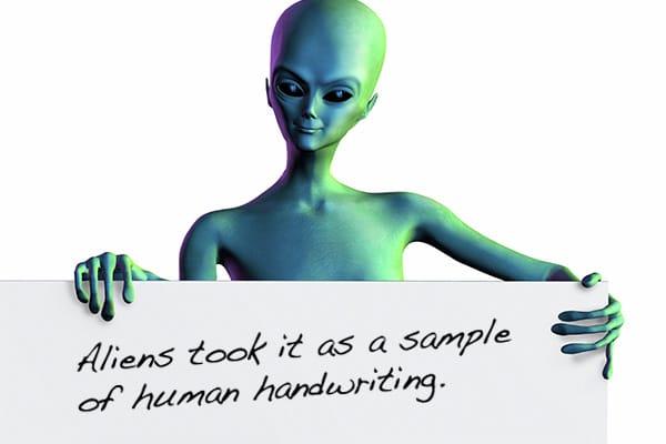 homework excuses aliens-writing