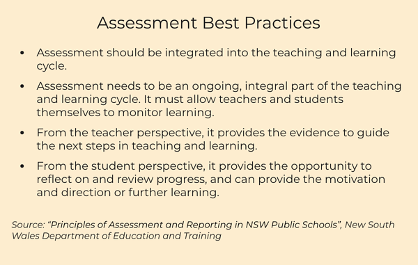 assessment best practices NSW